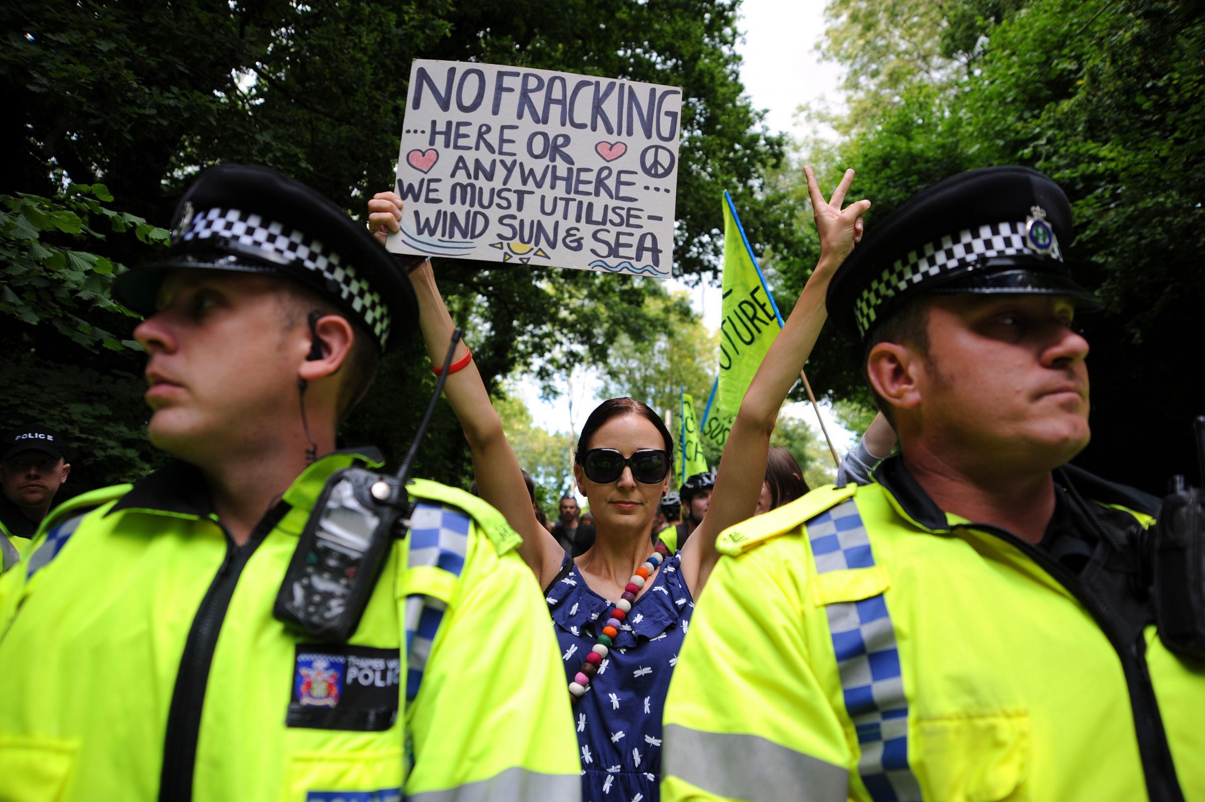 """Police """"criminalised fracking protests"""""""