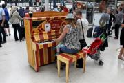 Piano at Brighton station moved - because it is too noisy