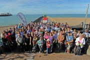 Great turn out of volunteers who helped clean Brighton beach of litter